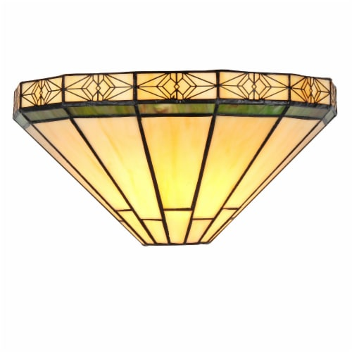 CHLOE Lighting BELLE Tiffany-style 1 Light Mission Wall Sconce 12  Wide Perspective: front