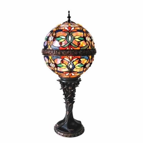 """CHLOE Lighting CHARLIZE Tiffany-style 1 Light Victorian Table Lamp 11"""" Shade Perspective: front"""