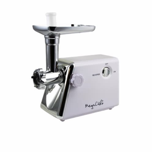 MegaChef MG-700 1200W Ultra Powerful Automatic Meat Grinder for Household Use Perspective: front