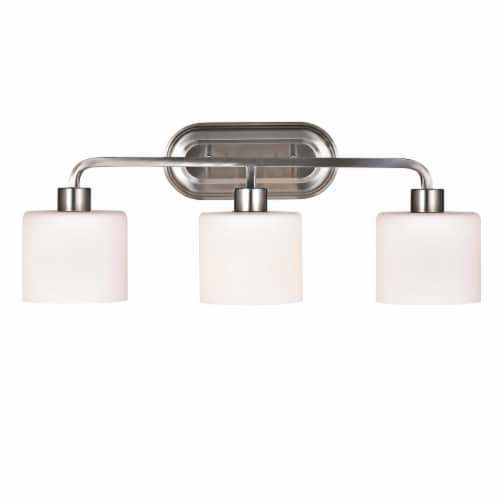 LEIA Transitional 3 Light Bath Vanity Light 24  Wide Perspective: front