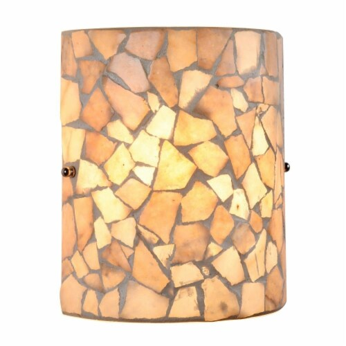 CHLOE Lighting KAI Mosaic 1 Light  Indoor Wall Sconce 8  Wide Perspective: front