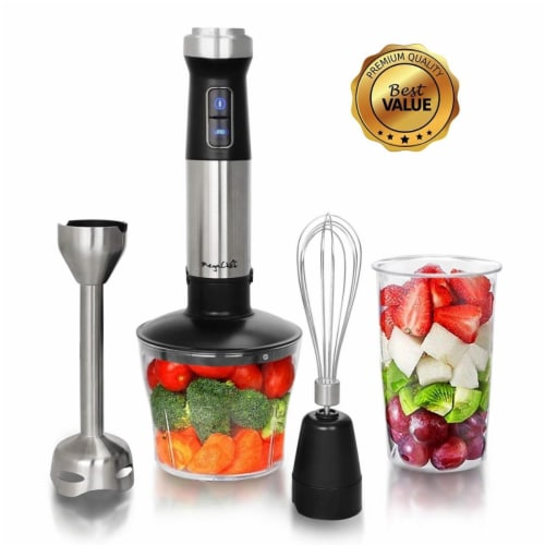 Megachef 4 in. 1 Multipurpose Immersion Hand Blender with Speed Control Perspective: front