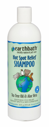 Earthbath Tea Tree Oil & Aloe Vera Hot Spot Relief Pet Shampoo Perspective: front
