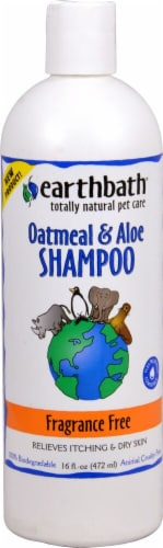 Earthbath Fragrance Free Oatmeal & Aloe Pet Shampoo Perspective: front