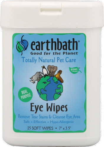 Earthbath Pet Eye Wipes Perspective: front