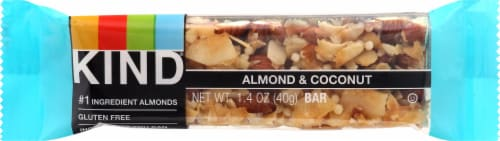 KIND Almond & Coconut Fruit and Nut Bar Perspective: front