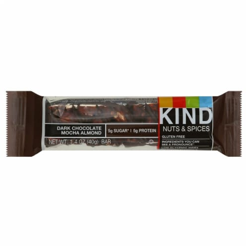 KIND Nuts & Spices Dark Chocolate Mocha Almond Bars Perspective: front