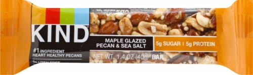KIND Maple Glazed Pecan & Sea Salt Snack Bar Perspective: front