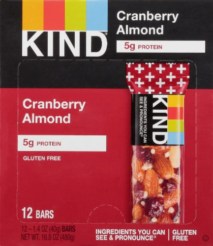 KIND Plus Cranberry Almond Fruit & Nut Bars Perspective: front