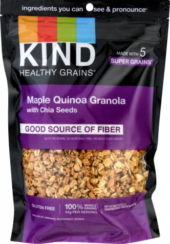 KIND Healthy Grains Maple Quinoa Clusters With Chia Seeds Perspective: front