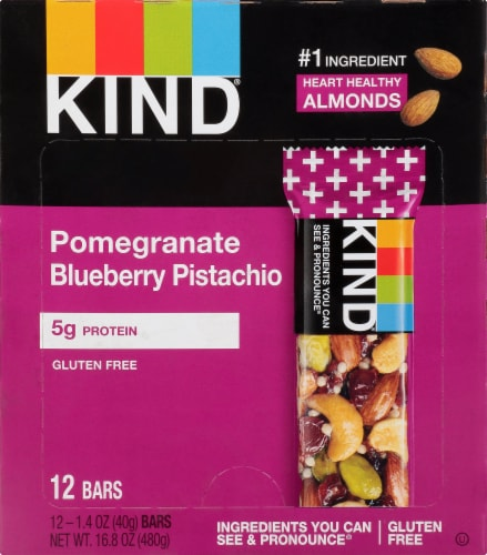 KIND Pomegranate Blueberry Pistachio Bars Perspective: front