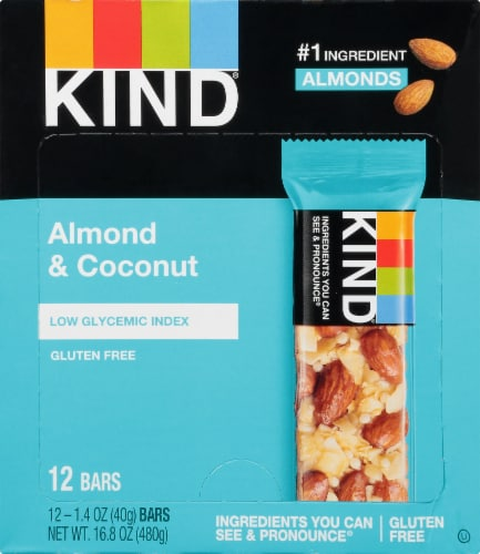 KIND Almond & Coconut Fruit & Nut Bars Perspective: front