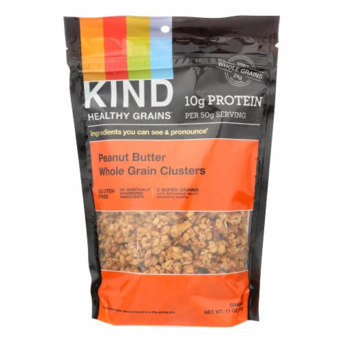 Kind Healthy Grains Peanut Butter Whole Grain Clusters - 11 oz - Case of 6 Perspective: front