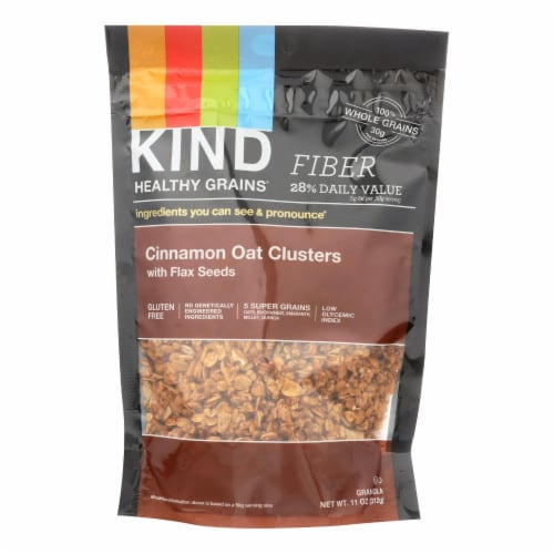 Kind Healthy Grains Cinnamon Oat Clusters with Flax Seeds - 11 oz - Case of 6 Perspective: front