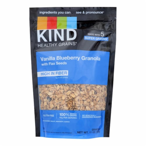 Kind Healthy Grains Vanilla Blueberry Clusters with Flax Seeds - 11 oz - Case of 6 Perspective: front