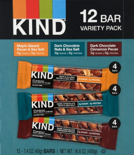 KIND Nuts & Spices Bars Variety Pack Perspective: front
