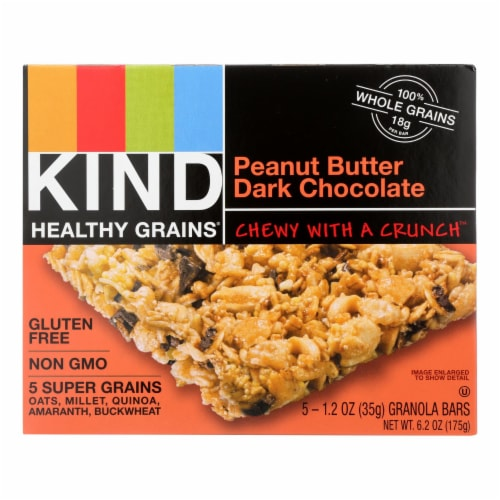 Kind Bar - Granola - Healthy Grains - Peanut Butter and Chocolate - 5/1.2 oz - case of 8 Perspective: front