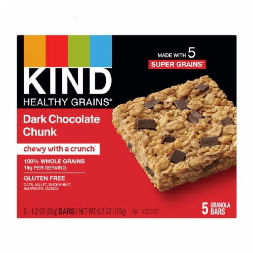 KIND Healthy Grains Dark Chocolate Chunk Granola Bars Perspective: front