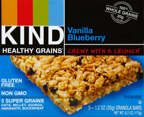 KIND Healthy Grains Vanilla Blueberry Bars Perspective: front