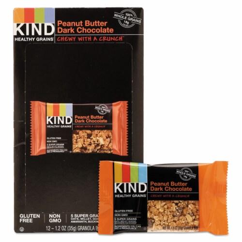 Healthy Grains Bar, Peanut Butter Dark Chocolate, 1.2 oz, 12/Box 18083 Perspective: front