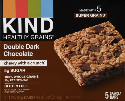 KIND Healthy Grains Double Dark Chocolate Bars Perspective: front