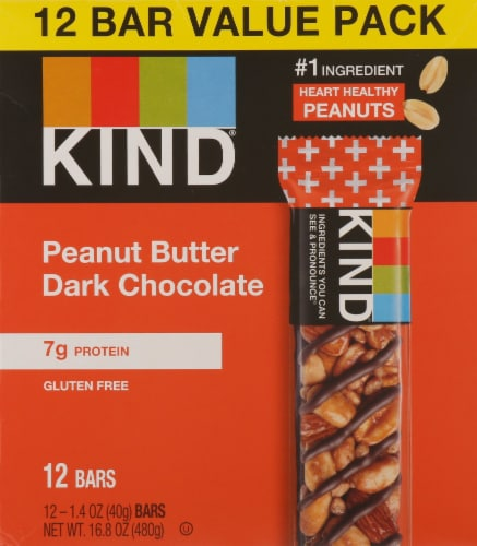 KIND Peanut Butter Dark Chocolate Bars Perspective: front