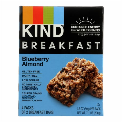 Kind Blueberry Almond - Case of 8 - 1.8 oz. Perspective: front