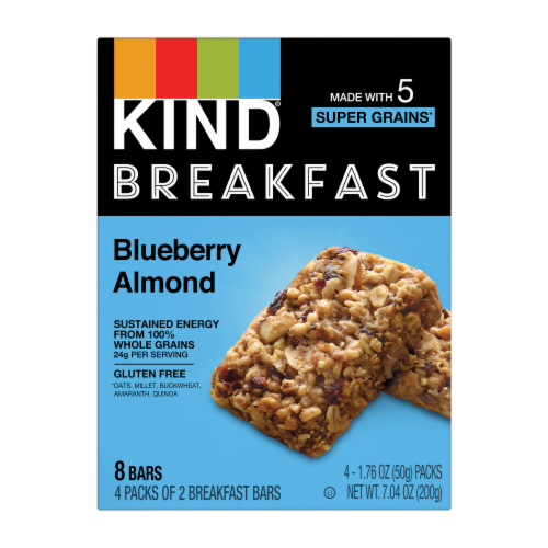 KIND Blueberry Almond Breakfast Bars Perspective: front