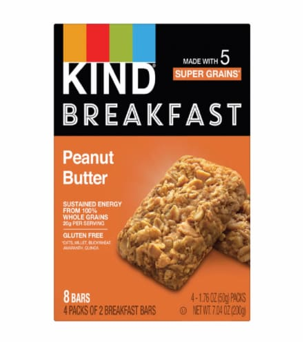 KIND Peanut Butter Breakfast Bars Perspective: front