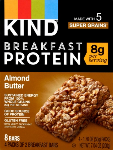 KIND Breakfast Protein Almond Butter Bars Perspective: front
