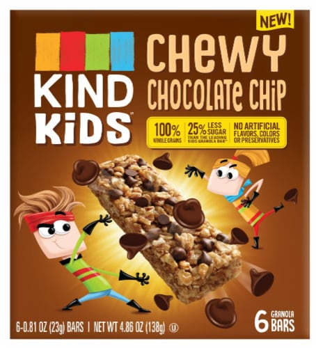 KIND Kids Chewy Chocolate Chip Granola Bars Perspective: front