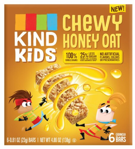 KIND Kids Chewy Honey Oat Granola Bars Perspective: front