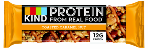 KIND Protein Toasted Caramel Nut Bar Perspective: front