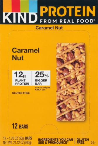 KIND Protein Caramel Nut Bars Perspective: front