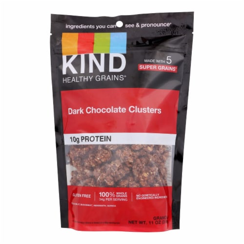 Kind Dark Chocolate Whole Grain Clusters - Case of 6 - 11 oz. Perspective: front