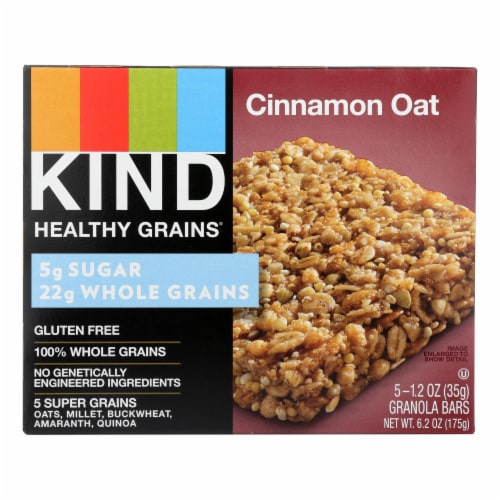 Kind Healthy Grains Bars - Cinnamon Oat - Case of 8 - 5/1.2 oz Perspective: front