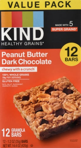 KIND Healthy Grain Peanut Butter with Dark Chocolate Bars Perspective: front