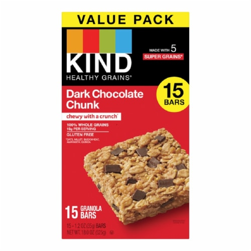 KIND Dark Chocolate Chunk Granola Bars Perspective: front