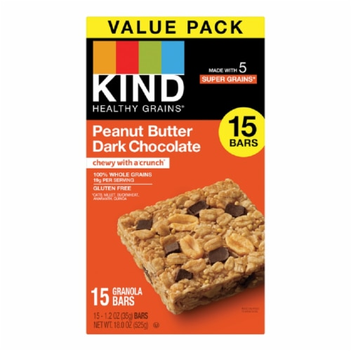KIND Peanut Butter Dark Chocolate Granola Bars Perspective: front