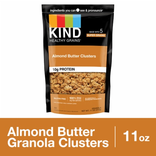 KIND Healthy Grains Almond Butter Whole Grain Clusters Perspective: front
