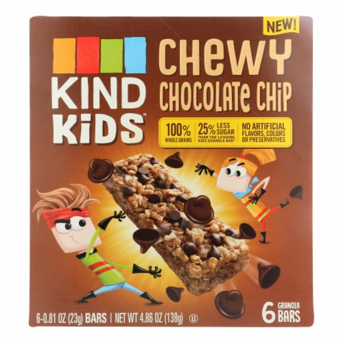 Kind - Bar Chewy Chocolate Chip - Case of 8 - 6/.81 OZ Perspective: front