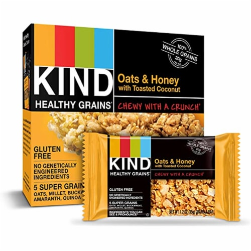 Kind - Bar Chewy Honey Oat - Case of 8 - 6/.81 OZ Perspective: front