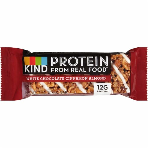 Kind Snacks White Chocolate Cinnamon Almond Protein Bar, 1.76 Ounce -- 72 per case. Perspective: front