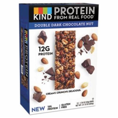Kind Snacks Double Dark Chocolate Nut Protein Bar, 1.76 Ounce -- 72 per case. Perspective: front