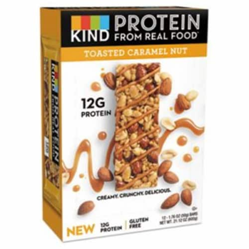 Kind Snacks Toasted Caramel Peanut Protein Bar, 1.76 Ounce -- 72 per case. Perspective: front