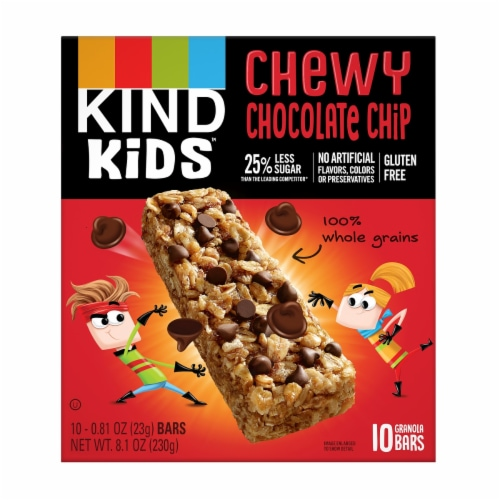 KIND Chocolate Chip Granola Bars 10 Count Perspective: front