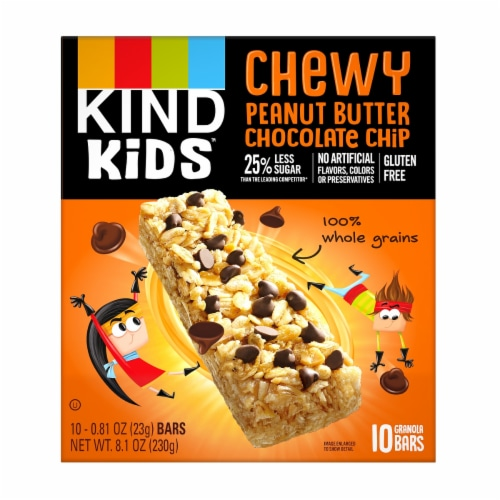 KIND Peanut Butter Chocolate Chip Granola Bars Perspective: front