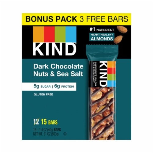 KIND Dark Chocolate Fitness Bars Perspective: front
