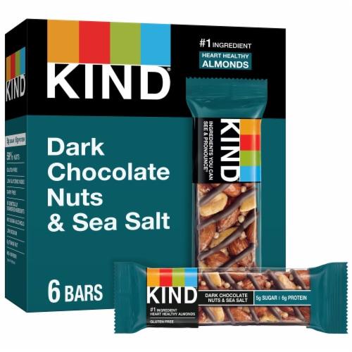 KIND Dark Chocolate Nuts & Sea Salt Bars Perspective: front