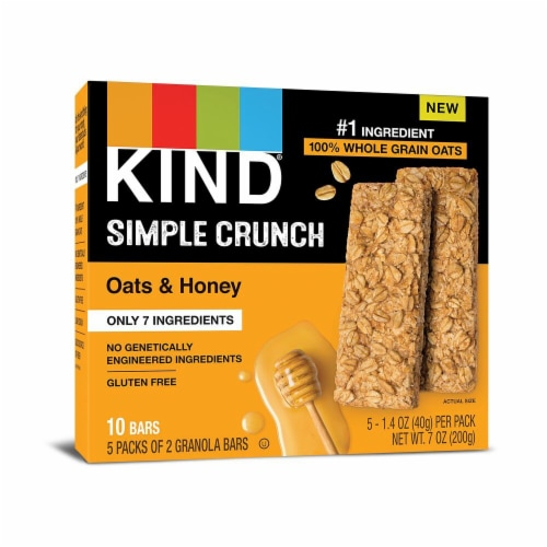 KIND Simple Crunch Oats & Honey Granola Bars Perspective: front
